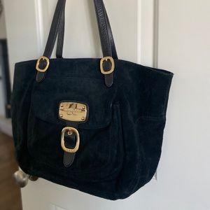 ⭐️Michael Kors⭐️ Black Suede Tote Bag Gold Detail